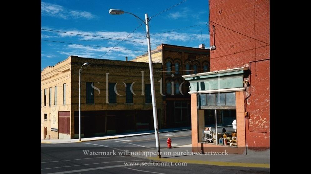 Street Corner in Butte by Wim Wenders