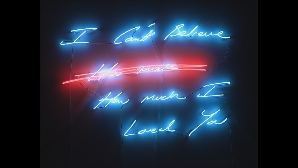I Can't Believe How Much I Loved Youby Tracey Emin