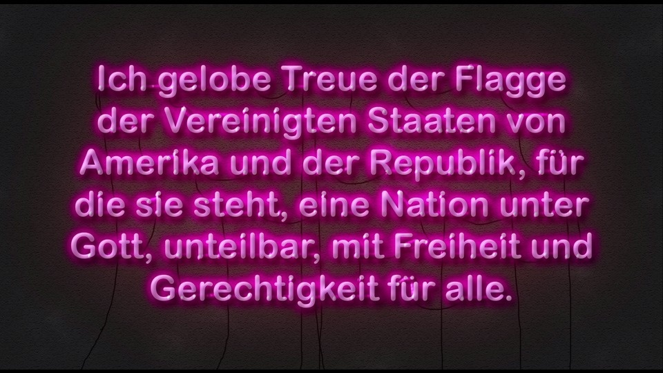 Pledge of Allegiance (German Neon)by Matthew Conboy