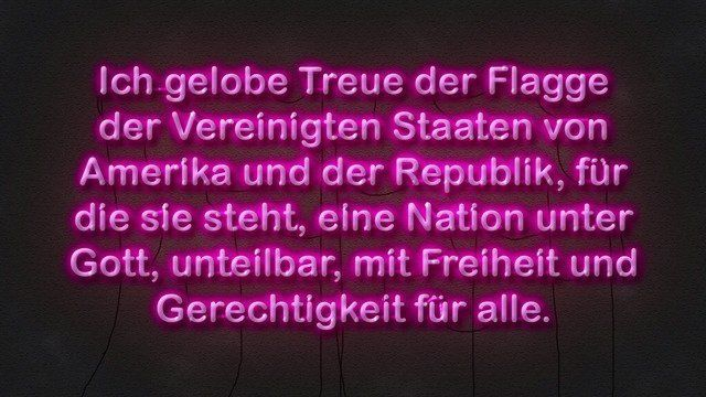 Pledge of Allegiance (German Neon)