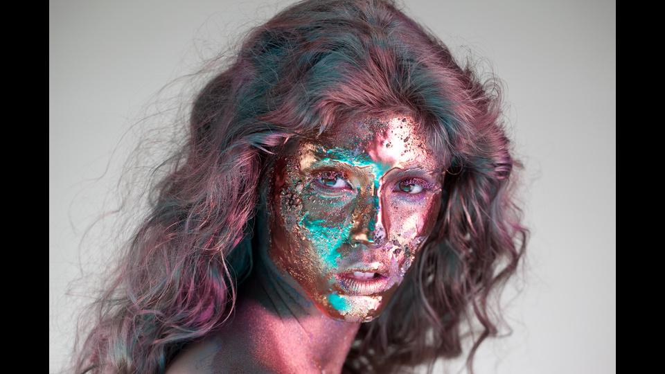 Gold faceby MI-ZO