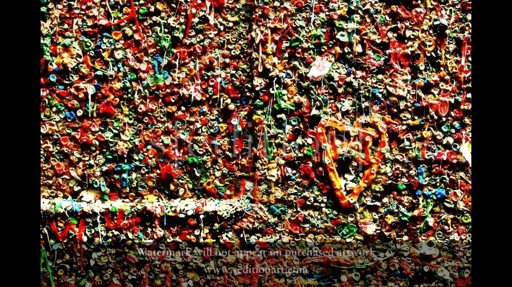 Ok.., Who put their gum on the wall! by Clint M Crawford