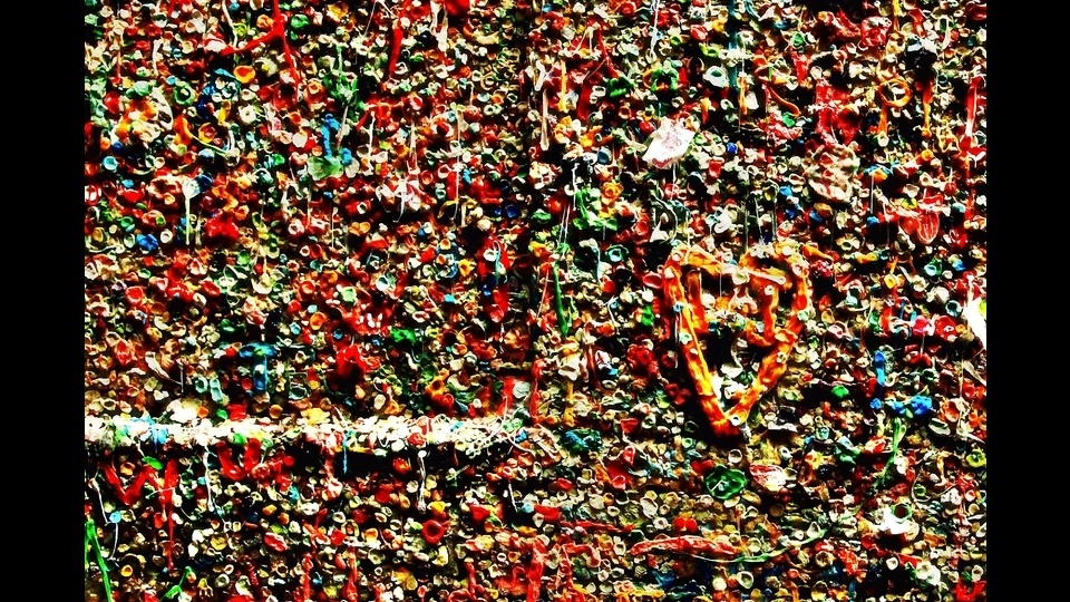 Ok.., Who put their gum on the wall!by Clint M Crawford