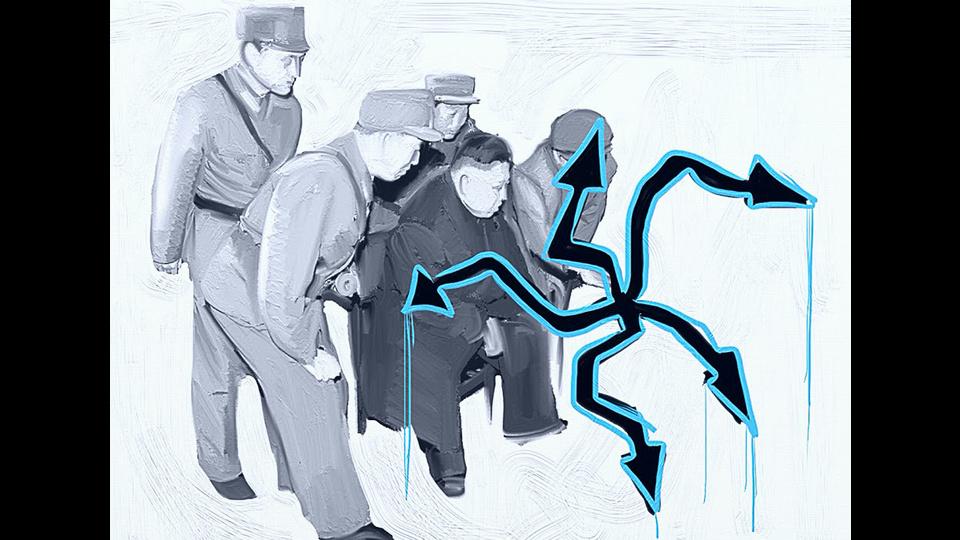 Kim Dzong Un recognized graffitiby Pikaso