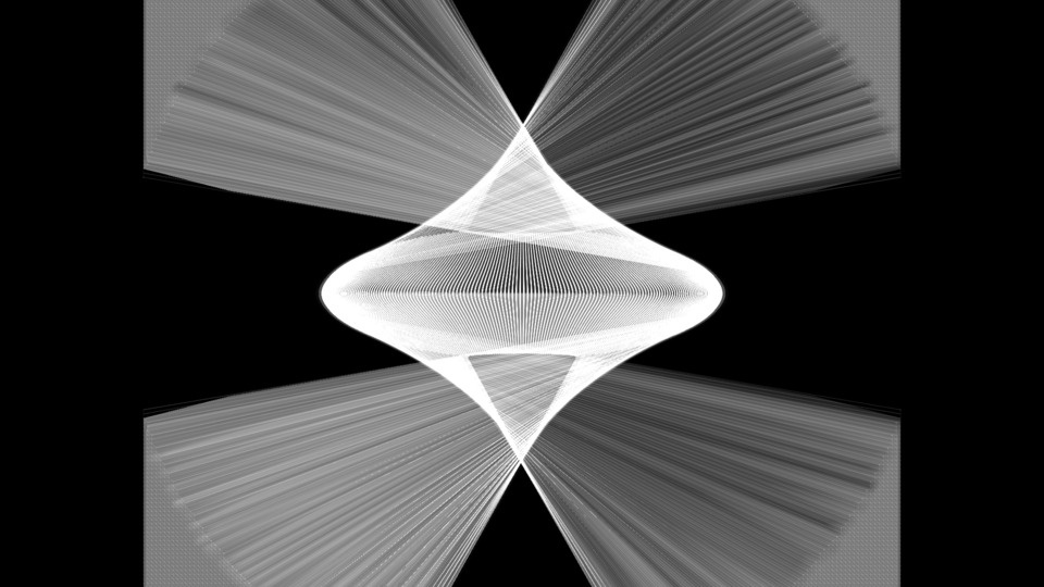 Composition: White Square, White Circleby Ryo Ikeshiro