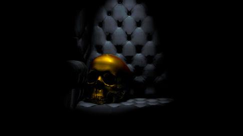 """Skull on Chair"""