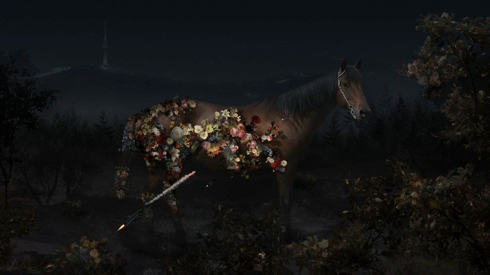 HORSE - Flowers Blossom On A Horseby Lee Lee Nam