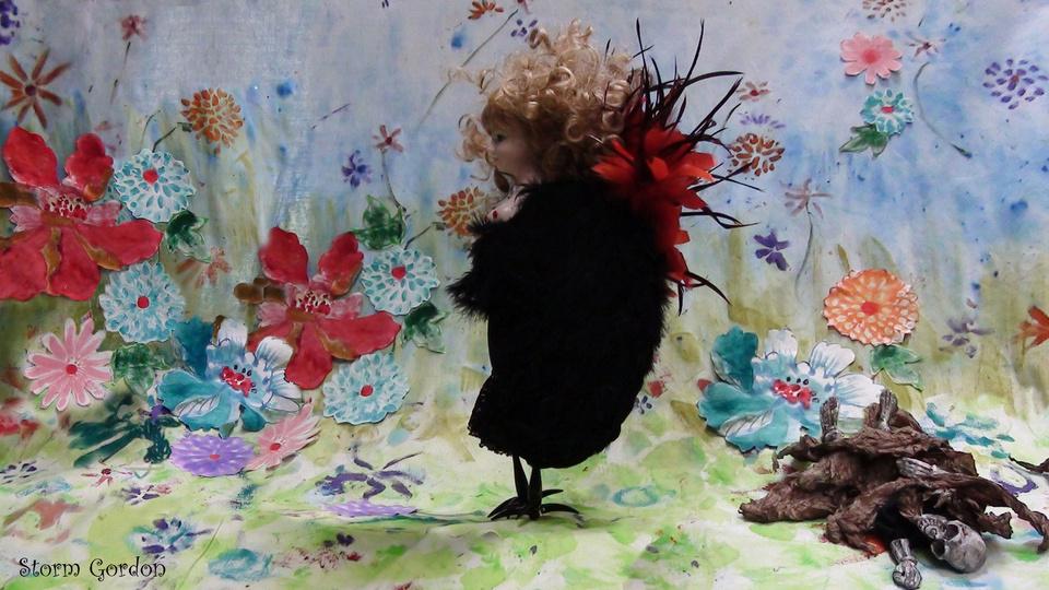 The Siren strolling in her flowery meadowby Storm Gordon