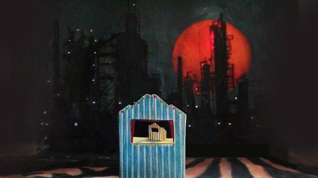 Puppet theatre & oil refinery