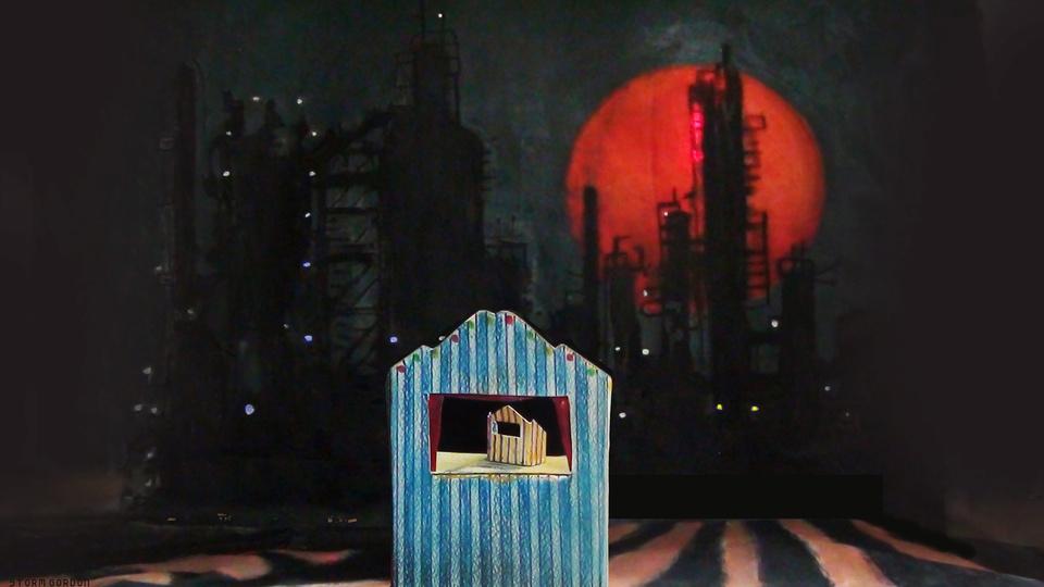 Puppet theatre & oil refineryby Storm Gordon