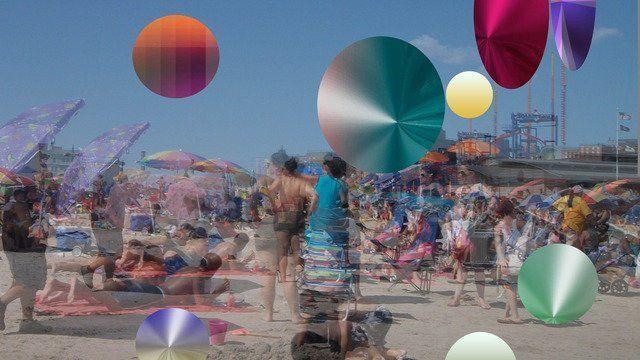 Mirage at the Coney Island Beach for Albert Einstein