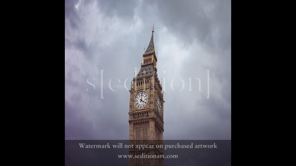 Leaning Big Ben of London by Baz Artist