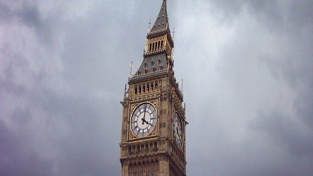 Leaning Big Ben of London