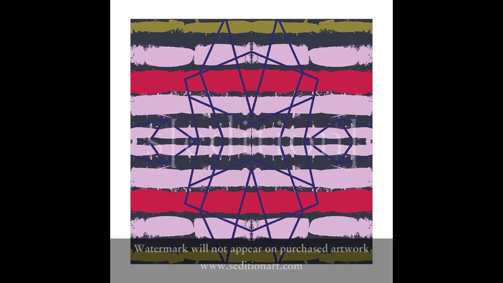 Abstract:Blue-Line-Quadrants by Inglis Thorburn