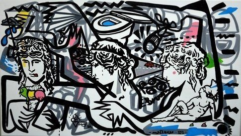 Riccardo Attanasio _Ice Ching_130x70cm, Oil and acrylic on canvas