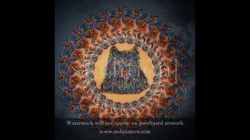 Mandala Wolf by Fabio