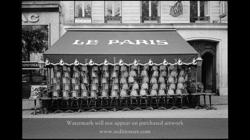 France, Paris, 1971, Champs Elysées Café by Richard Kalvar