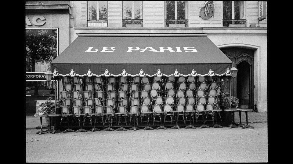 France, Paris, 1971, Champs Elysées Caféby Richard Kalvar