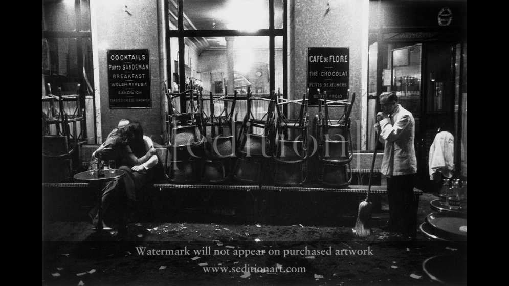 France, Paris, 1958, Café de Flore by Dennis Stock