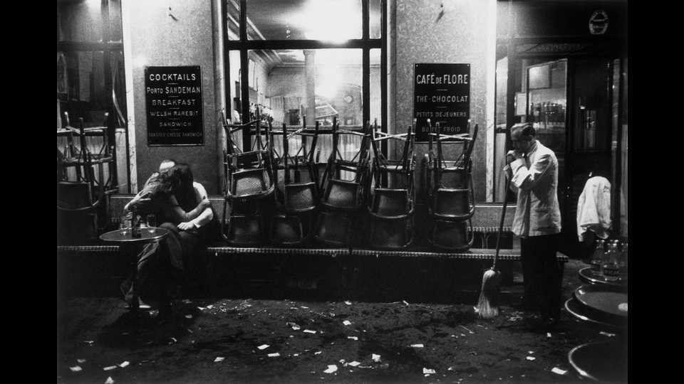 France, Paris, 1958, Café de Floreby Dennis Stock