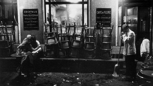France, Paris, 1958, Café de Flore