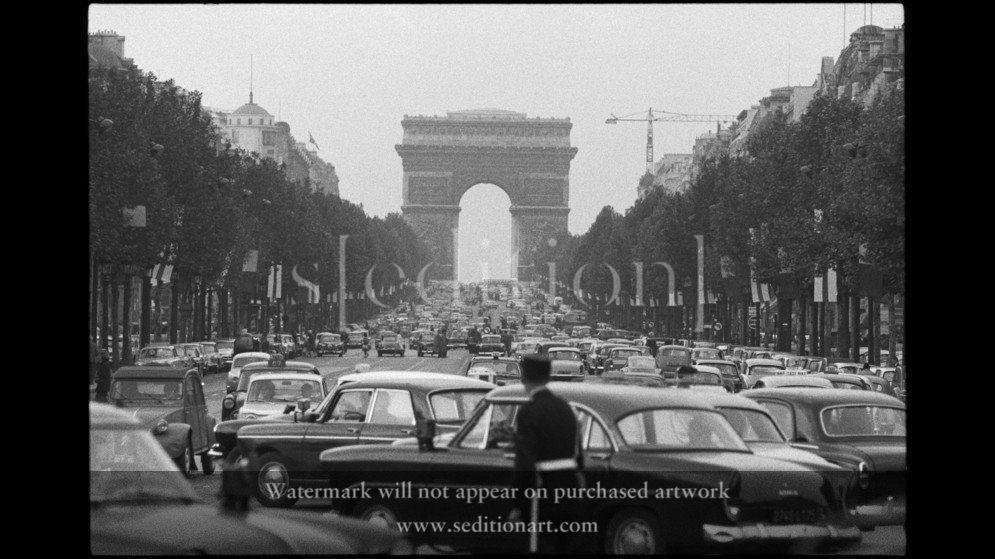 France, Paris, 1962, Champs Elysées by Rene Burri