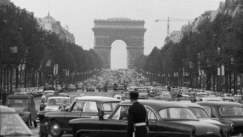 France, Paris, 1962, Champs Elysées