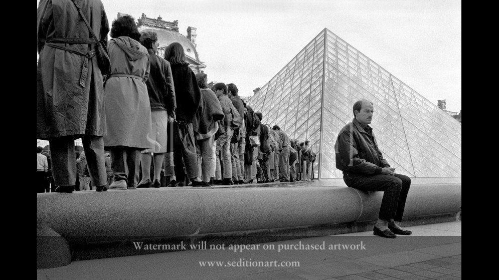 France, Paris, 1988, Pyramide du Louvre by Richard Kalvar