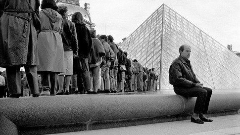 France, Paris, 1988, Pyramide du Louvre