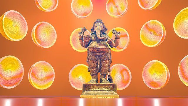 Ganesha with Oranges