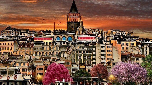 Galata tower Istanbulistanbul-Galata tower Istanbul