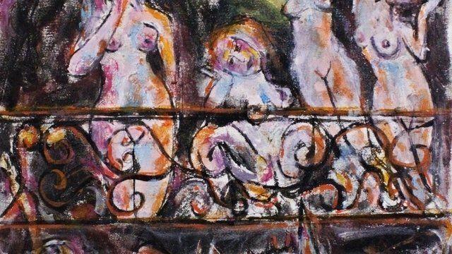 Damas en el Balcón