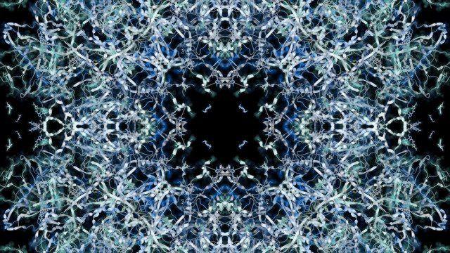 Unraveling #1 (Marine/Aquamarine/Skyblue)