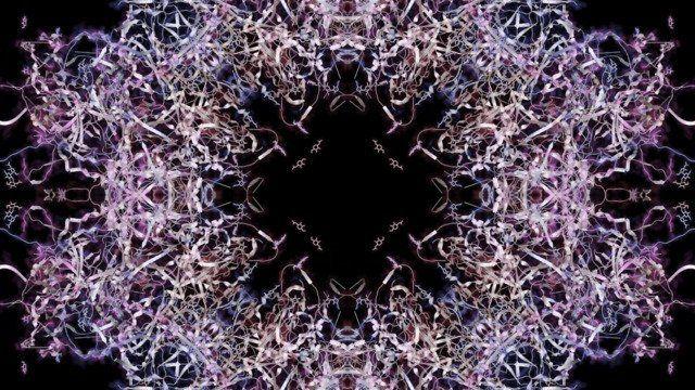 Unraveling #4 (Raspberry/Slate/Violet)