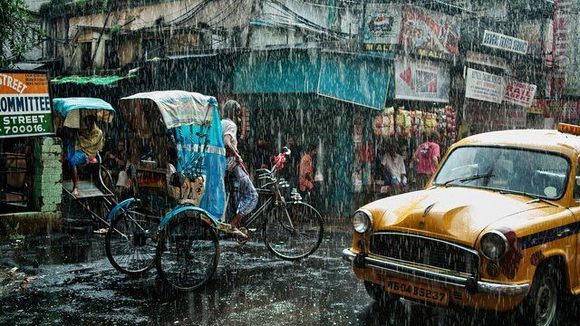 India, Kolkata, Monsoon, 2009