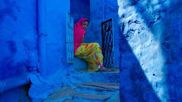 India, Jodhpur, Blue House, 2009