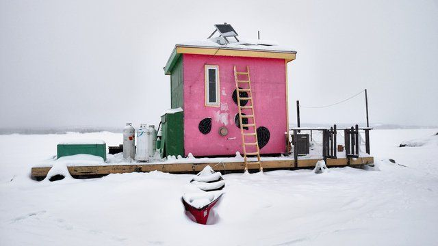 The Pink Houseboat