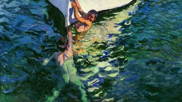 ''The poetry of light turns pouring'', Sorolla.