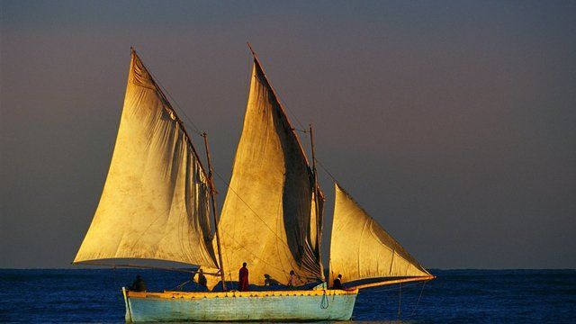 Bantri Sailing Boat at Dawn