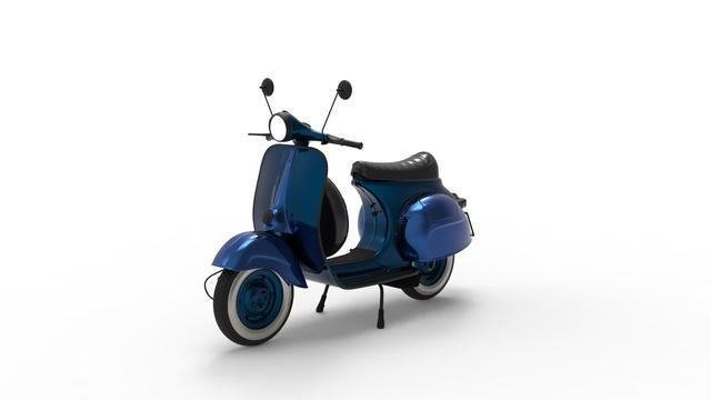 Blue Urban Scooter
