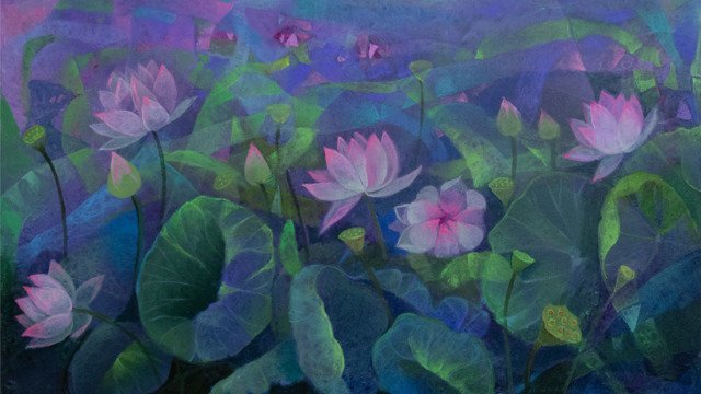 Lotus Pond 24x36 (I) - April 2021