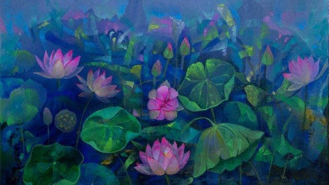 Lotus Pond 24x36 (II) - April 2021