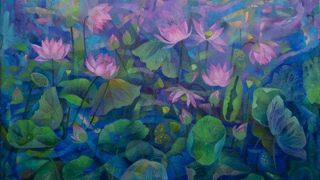 Lotus Pond 40x50 (I) - April 2021