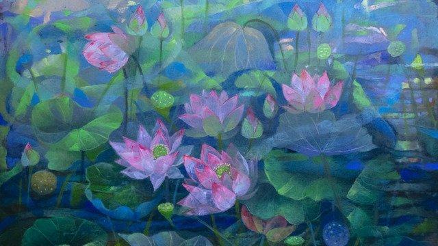Lotus Pond 40x45 (I) - May 2021
