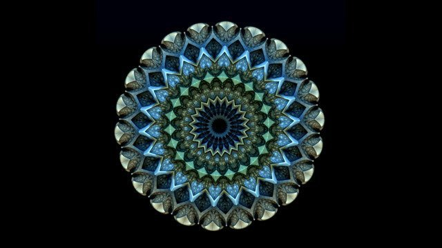 Subtle Rotations of a Colorful Mandala