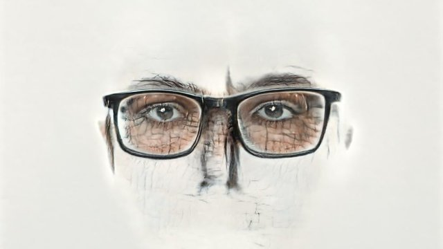 #MERZmory: Faces (The Person with Glasses).